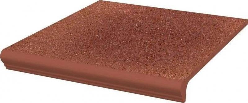 Ступень простая Ceramika Paradyz Taurus Rosa с капиносом структурная 30х33 см керамическая плитка ceramika paradyz taurus rosa ele структурная фасадная 6 58х24 5см