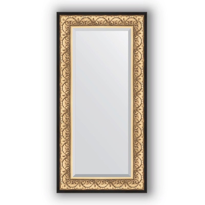 Зеркало Evoform Exclusive 120х60 Барокко золото цена в Москве и Питере