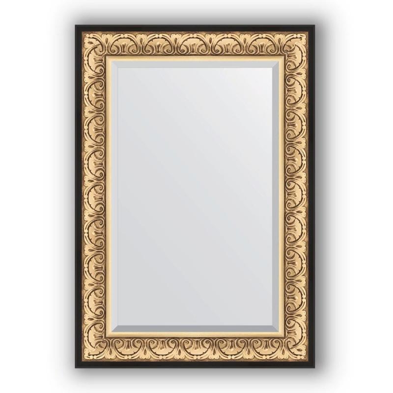 Зеркало Evoform Exclusive 100х70 Барокко золото зеркало evoform exclusive 180х120 барокко золото