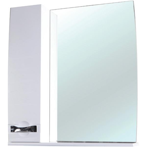 Зеркальный шкаф Bellezza Абрис 80 с подсветкой R Белый зеркальный шкаф bellezza кантри 55 с подсветкой r белый