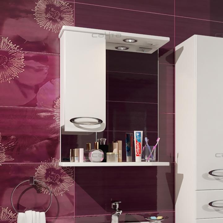Зеркальный шкаф СанТа Афины 60 с подсветкой R Белый зеркальный шкаф какса а астра 55 l 001838 с подсветкой белый