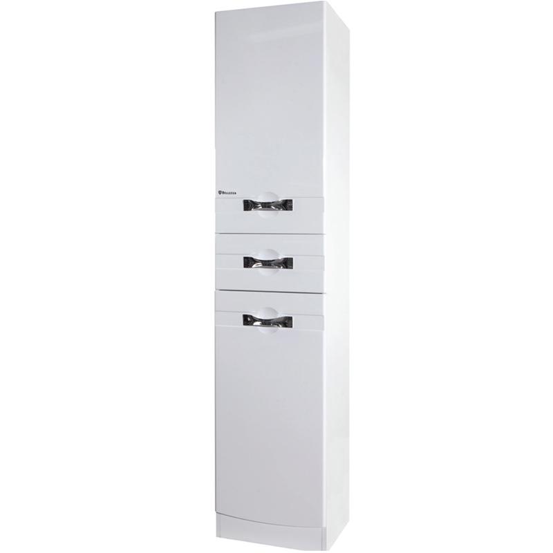 Шкаф пенал Bellezza Абрис 40 L Белый шкаф пенал bellezza андрэа 35 с бельевой корзиной l черный