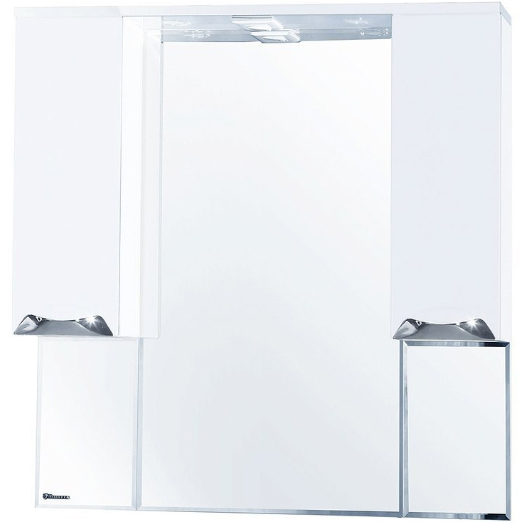 Зеркальный шкаф Bellezza Альфа 90 с подсветкой Белый Бежевый зеркальный шкаф bellezza альфа 55 с подсветкой l белый