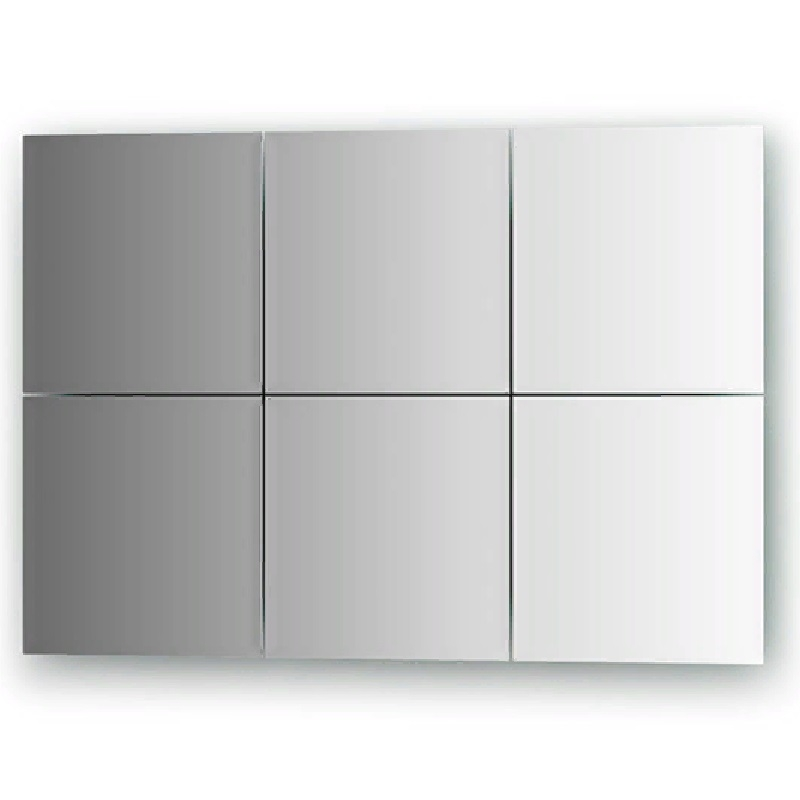 Зеркальная плитка Evoform Refractive 20х20 с фацетом 10 мм зеркальная плитка evoform reflective с фацетом 10 мм 20 х 20 см комплект 6 шт by 1515