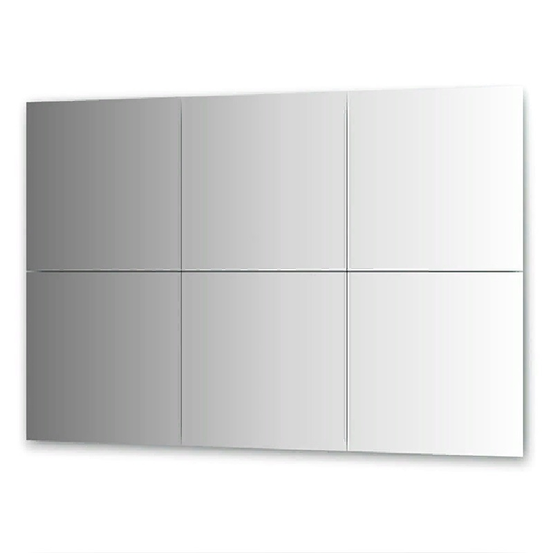 Зеркальная плитка Evoform Refractive 50х50 с фацетом 10 мм зеркальная плитка evoform reflective с фацетом 10 мм 20 х 20 см комплект 6 шт by 1515