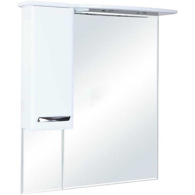 Зеркальный шкаф Bellezza Балтика 90 с подсветкой R Бежевый Белый зеркальный шкаф bellezza магнолия 55 с подсветкой r белый