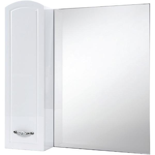Зеркало со шкафом Bellezza Амелия 80 L Белое