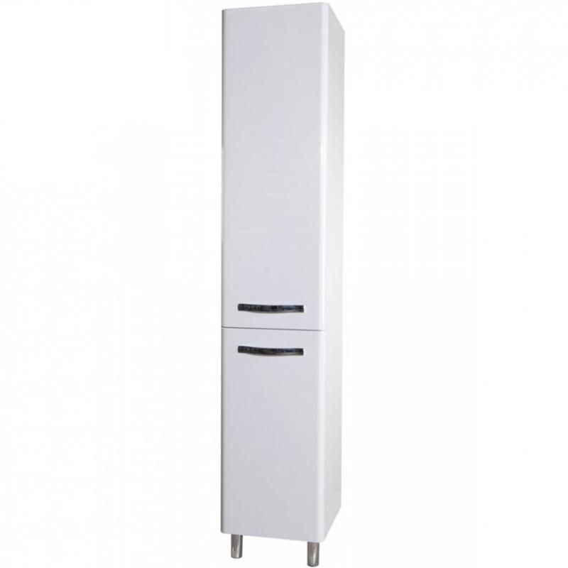 Шкаф пенал Bellezza Анкона 35 L Белый шкаф пенал bellezza рокко 35 подвесной красный белый