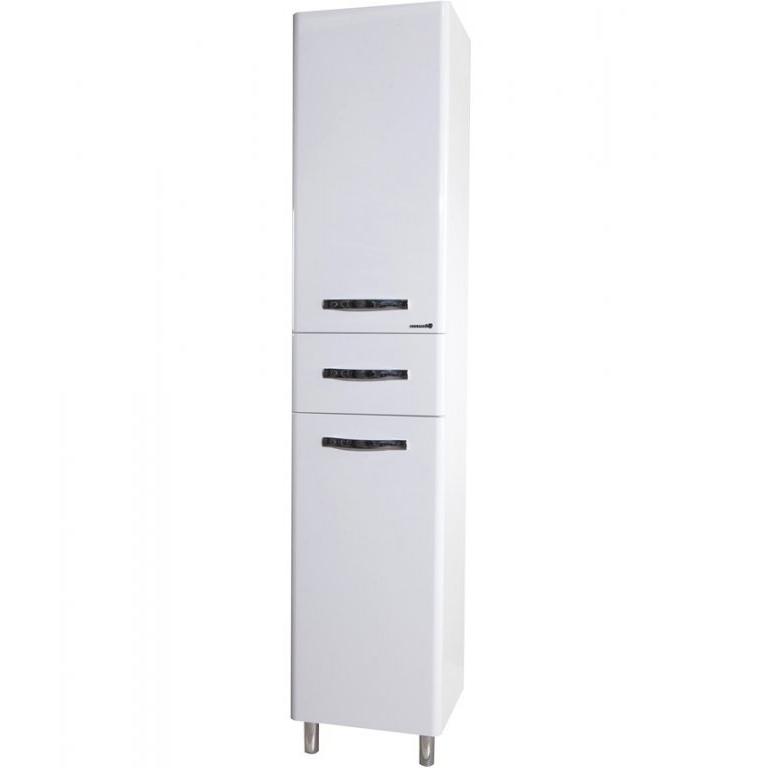 Шкаф пенал Bellezza Анкона 40 с бельевой корзиной L Белый шкаф пенал bellezza 60 белый