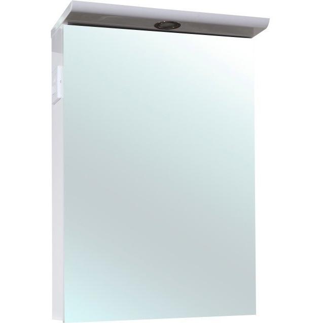 Зеркальный шкаф Bellezza Анкона 50 с подсветкой Белый зеркальный шкаф bellezza астра 55 с подсветкой r белый