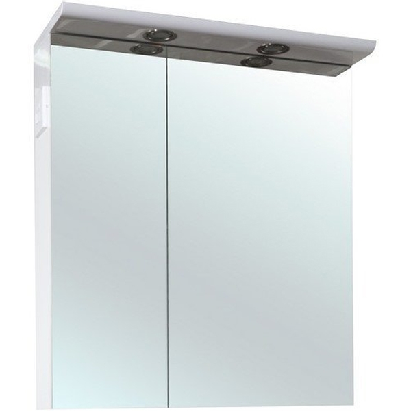 Зеркальный шкаф Bellezza Анкона 80 с подсветкой Белый зеркальный шкаф vigo kolombo 80 с подсветкой серый