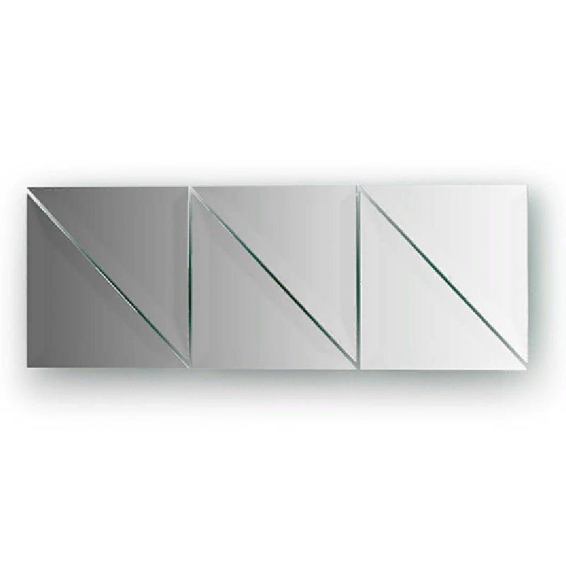 Зеркальная плитка Evoform Refractive 20х20 с фацетом 15 мм зеркальная плитка evoform reflective с фацетом 10 мм 20 х 20 см комплект 6 шт by 1515