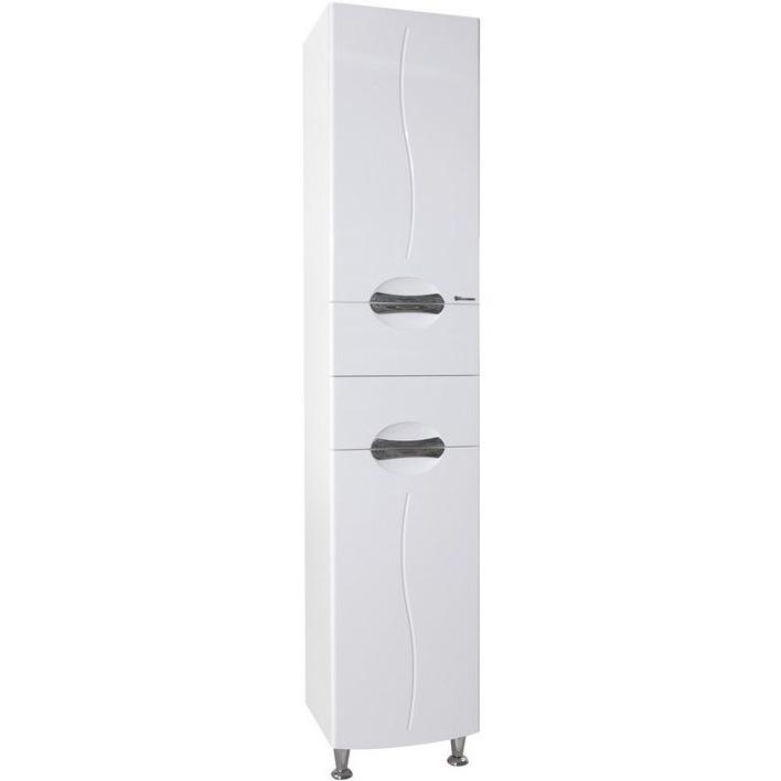 Шкаф пенал Bellezza Глория 40 с бельевой корзиной R Белый шкаф пенал bellezza джела 40 с бельевой корзиной r белый