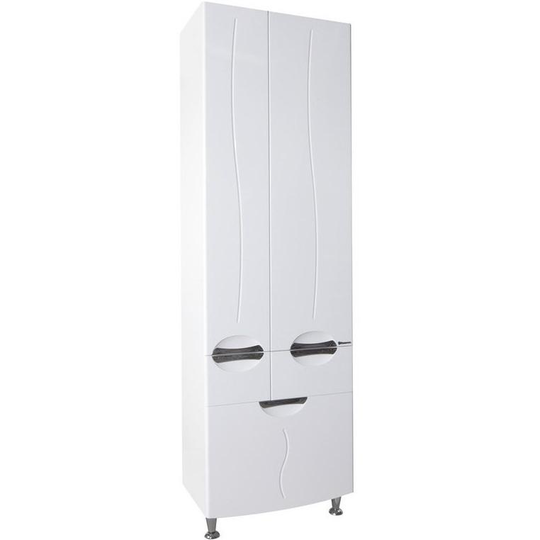 Шкаф пенал Bellezza Глория 60 Белый шкаф пенал bellezza рокко 35 подвесной красный белый