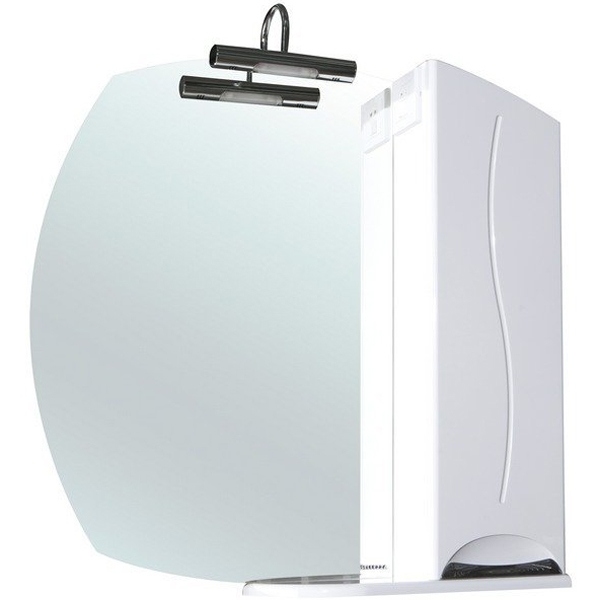 Зеркало со шкафом Bellezza Глория 75 с подсветкой R Белое зеркальный шкаф bellezza глория 75 с подсветкой r белый