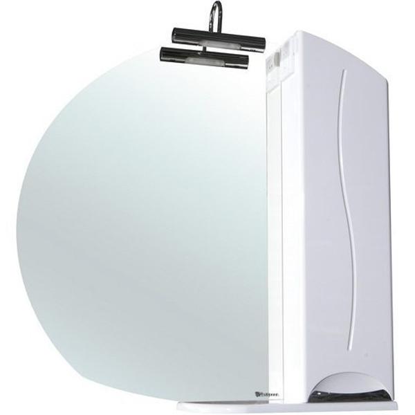 Зеркало со шкафом Bellezza Глория 85 с подсветкой R Белое зеркальный шкаф bellezza глория 75 с подсветкой r белый