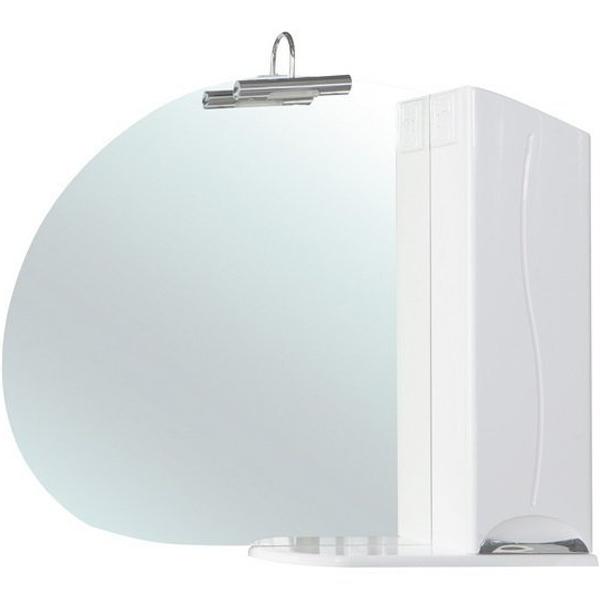 Зеркало со шкафом Bellezza Глория 105 с подсветкой R Белое зеркальный шкаф bellezza глория 75 с подсветкой r белый