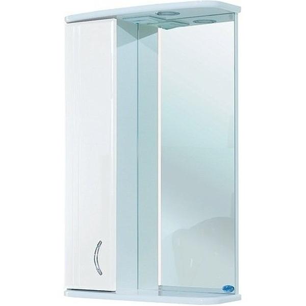 Зеркальный шкаф Bellezza Астра 55 с подсветкой R Белый зеркальный шкаф bellezza кантри 55 с подсветкой r белый