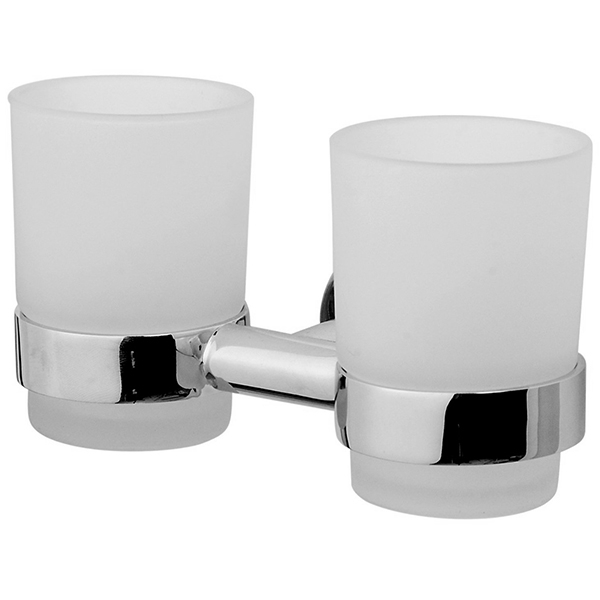 Sense A75343400 ХромАксессуары для ванной<br>Стеклянный стакан AM PM A75343400, двойной, с настенным держателем. В основе дизайна лежит форма круга. Силиконовые прокладки в держателе для стакана делают использование еще комфортнее.<br>