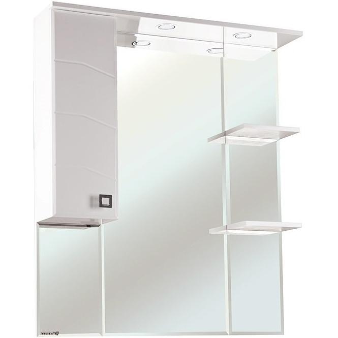 Зеркало со шкафом Bellezza Джулия 85 с подсветкой L Белое зеркало со шкафом bellezza джулия 95 с подсветкой белое