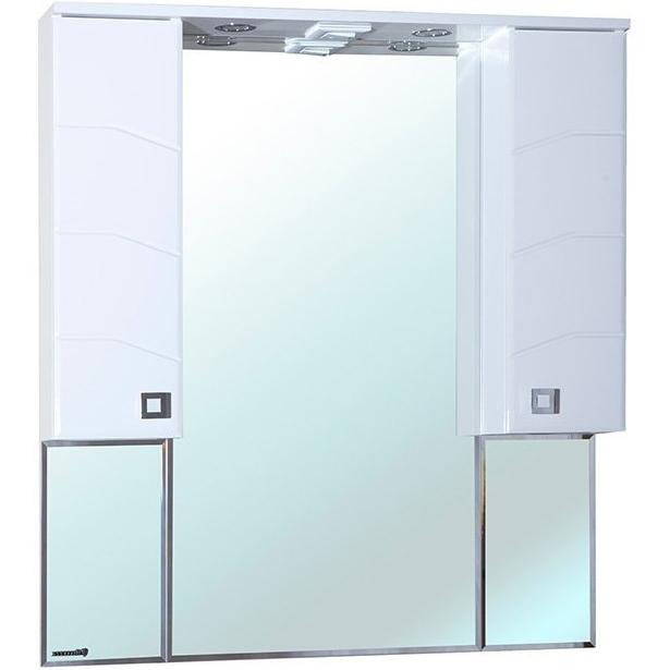 Зеркало со шкафом Bellezza Джулия 95 с подсветкой Белое зеркало со шкафом bellezza джулия 95 с подсветкой белое