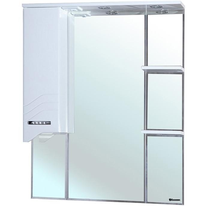 Зеркальный шкаф Bellezza Дрея 75 с подсветкой R Белый зеркальный шкаф bellezza миа 85 с подсветкой l белый