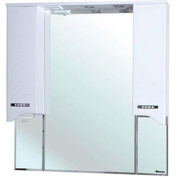 Зеркало со шкафом Bellezza Дрея 95 с подсветкой Белое зеркало со шкафом bellezza джулия 95 с подсветкой белое