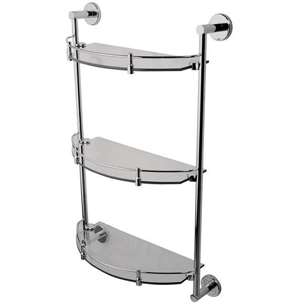 Sense A7537900 ХромАксессуары для ванной<br>Стеклянная полка AM PM A7537900, тройная. Полочки из прозрачного стекла с хромированными держателями и ограничителями. Модель с современным дизайном отлично впишется в любой интерьер и позволит сэкономить пространство ванной комнаты.<br>