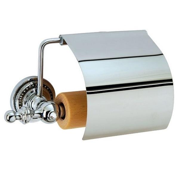 Держатель туалетной бумаги с крышкой Boheme Brillante 10430 Хром цена 2017