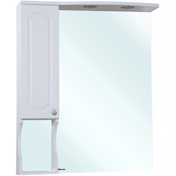 Зеркальный шкаф Bellezza Камелия 75 с подсветкой R Белый зеркальный шкаф bellezza глория 75 с подсветкой r белый