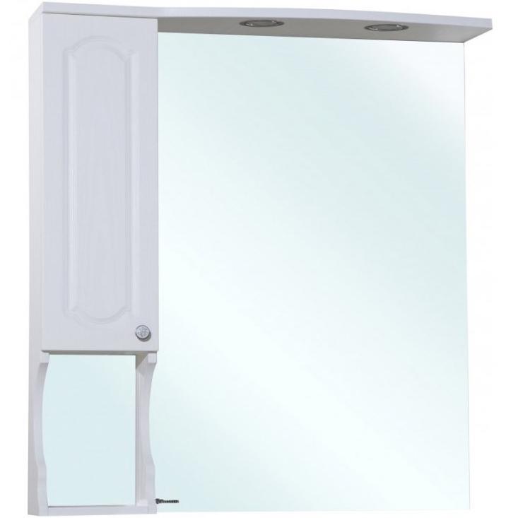Зеркало со шкафом Bellezza Камелия 85 с подсветкой L Белое зеркало со шкафом bellezza коралл 85 с подсветкой l белое