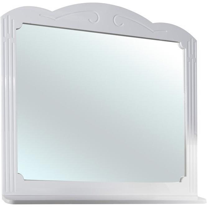 Зеркало Bellezza Кантри 105 Белое патина Золото шкаф пенал bellezza кантри 40 l белый патина золото