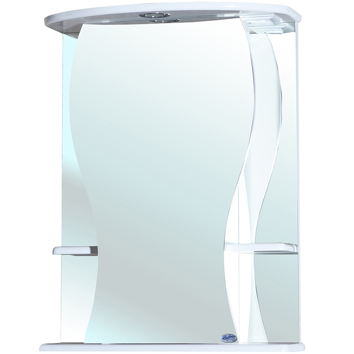 Зеркальный шкаф Bellezza Карина 55 с подсветкой R Белый зеркальный шкаф bellezza андрэа 80 r черный