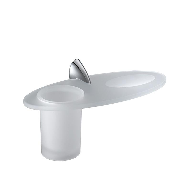 Стакан для зубных щеток с мыльницей Colombo Design Link В2404.000 Белый, Хром цена и фото