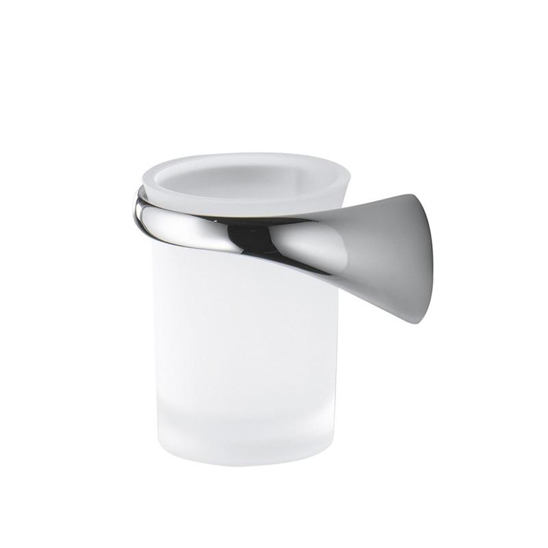 Стакан для зубных щеток Colombo Design Link В2402 SX.000 Белый, Хром цена и фото