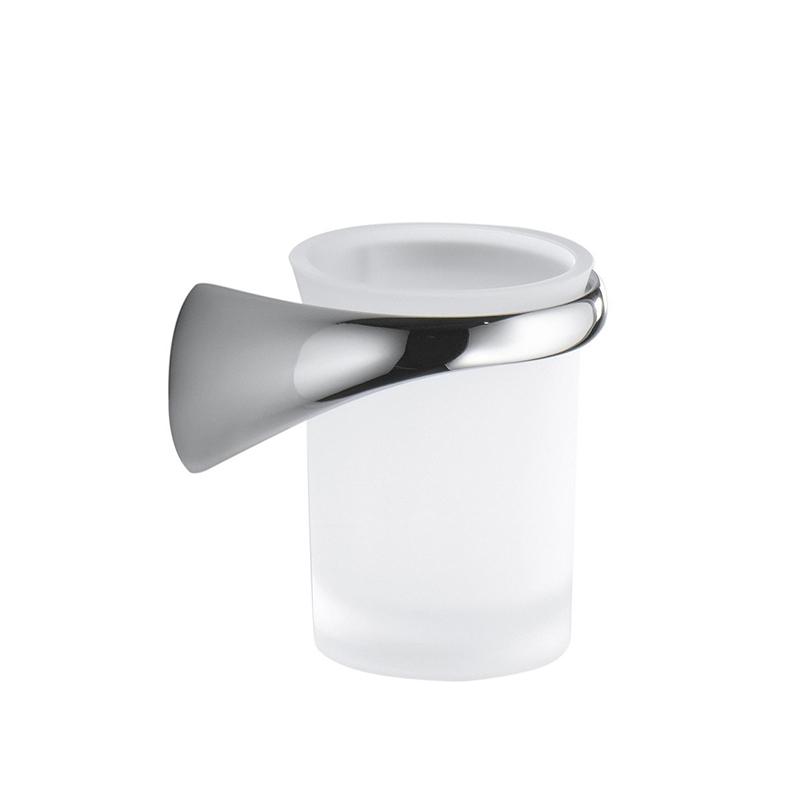 Стакан для зубных щеток Colombo Design Link В2402 DX.000 Белый, Хром цена и фото
