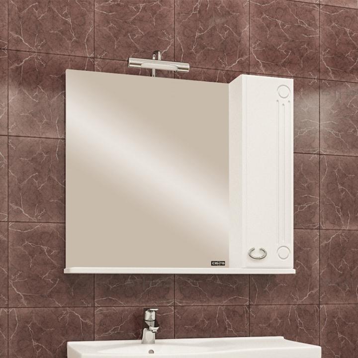 Зеркальный шкаф СанТа Коралл 80 L Белый зеркальный шкаф санта коралл 80 l белый
