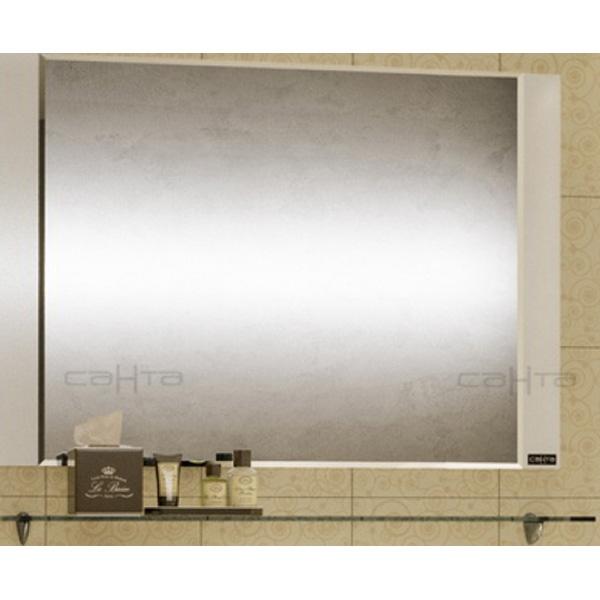 Зеркало СанТа Виктория 100 700013 с полочкой Белое