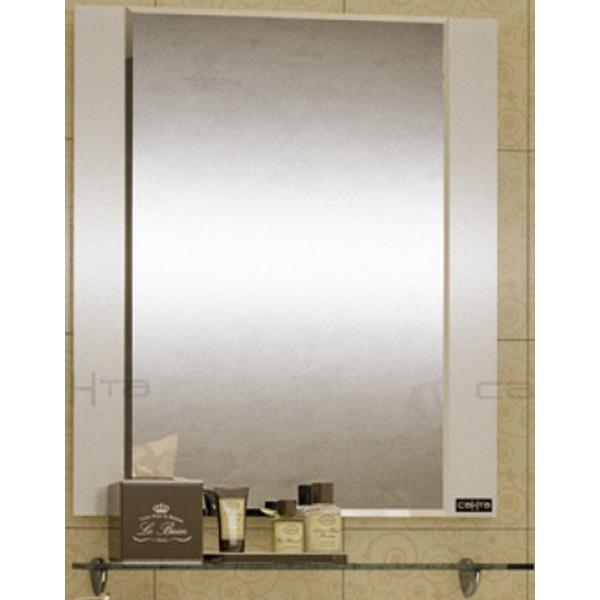 Зеркало СанТа Виктория 60 700012 с полочкой Белое