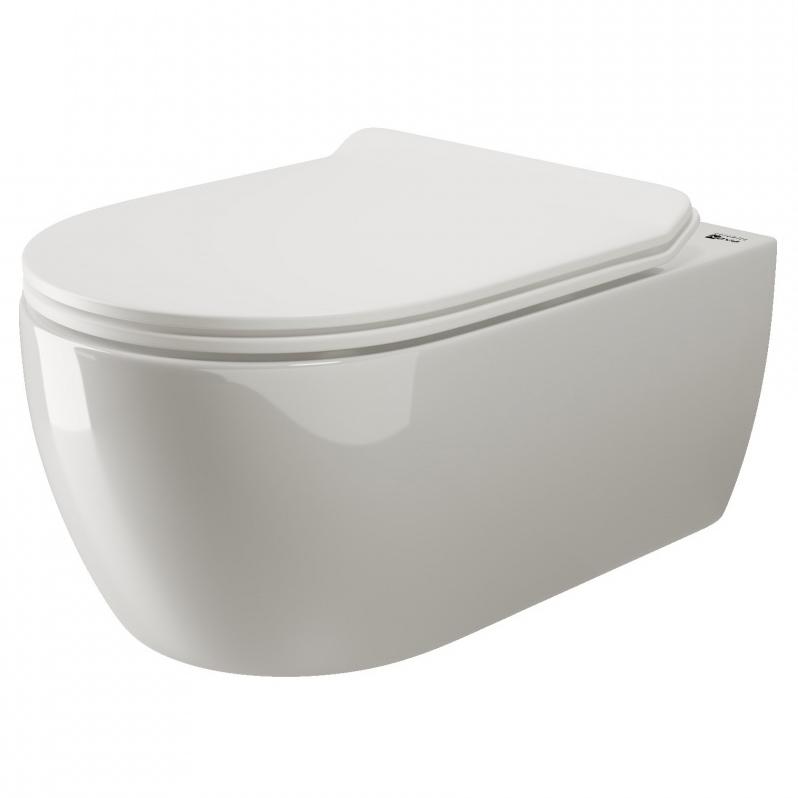 Унитаз Ceramica Nova Simple Rimless CN1302 подвесной с сиденьем Микролифт унитаз ceramica nova enjoy cn1104e подвесной с сиденьем микролифт