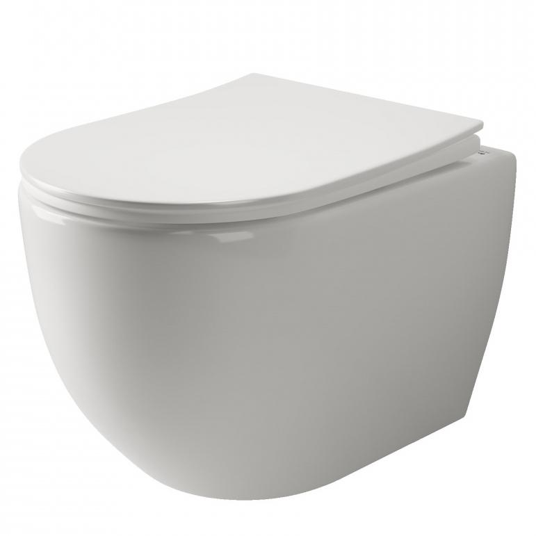 Унитаз Ceramica Nova Mia Rimless CN1805 подвесной с сиденьем Микролифт