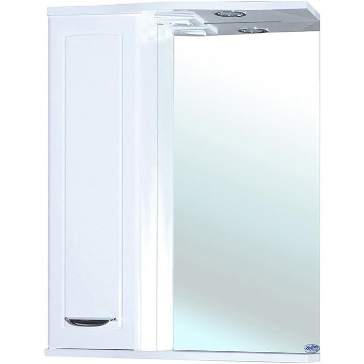 Зеркальный шкаф Bellezza Классик 60 с подсветкой L Белый зеркальный шкаф bellezza астра 60 с подсветкой l белый