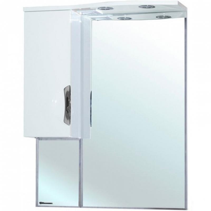 Зеркало со шкафом Bellezza Лагуна 65 с подсветкой L Красное Белое зеркальный шкаф bellezza лагуна 105 с подсветкой бежевый белый