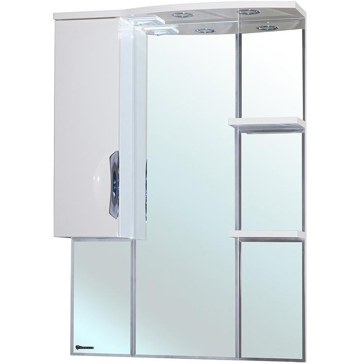 Зеркало со шкафом Bellezza Лагуна 75 с подсветкой R Белое зеркальный шкаф bellezza лагуна 105 с подсветкой бежевый белый