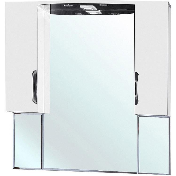 Зеркало со шкафом Bellezza Лагуна 105 с подсветкой Черное Белое зеркало со шкафом bellezza лагуна 85 с подсветкой r черное белое