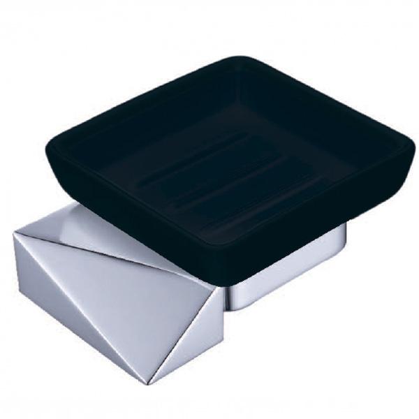 Мыльница Boheme New Venturo 10313-CR-B Хром, Черный