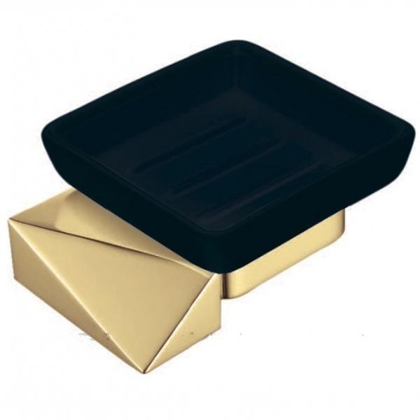 Мыльница Boheme New Venturo 10313-G-B Золото Черная