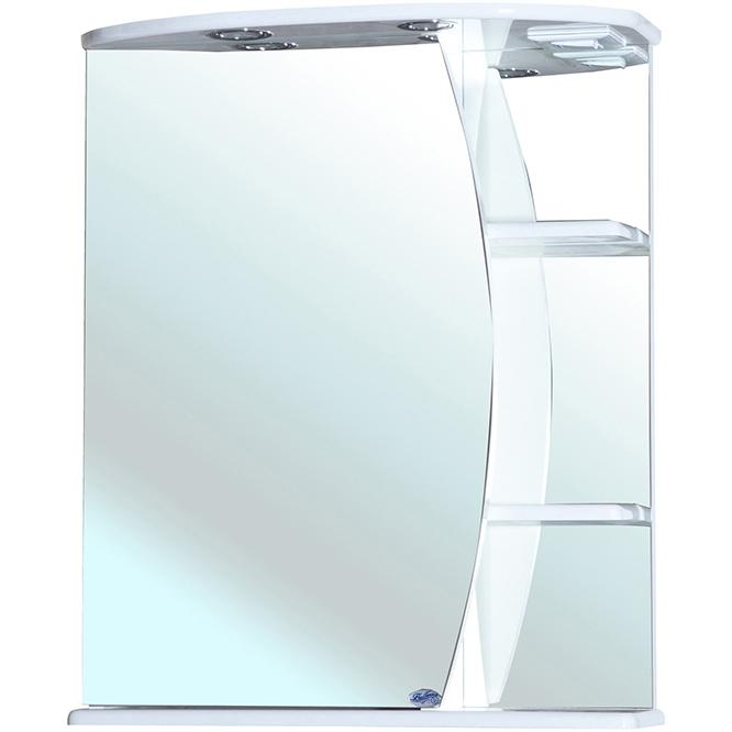 Зеркальный шкаф Bellezza Луна 60 с подсветкой R Белый зеркальный шкаф bellezza андрэа 80 r черный