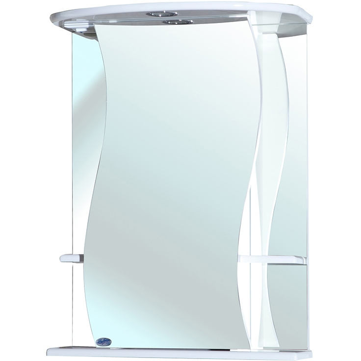 Зеркальный шкаф Bellezza Лиана 55 с подсветкой R Белый зеркальный шкаф bellezza пегас 90 r бежевый
