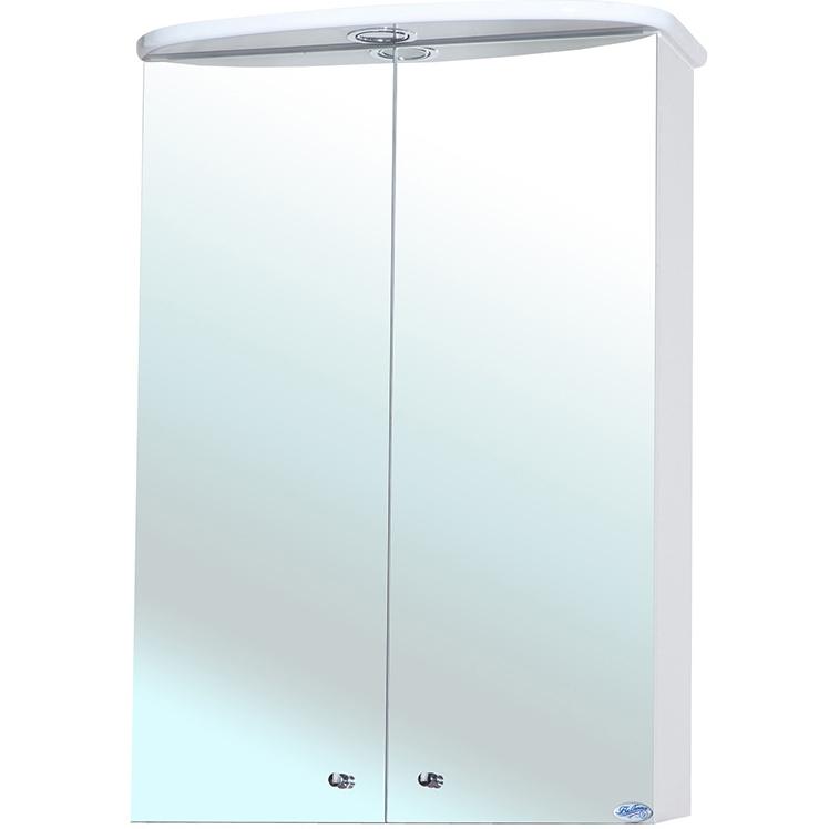 Зеркальный шкаф Bellezza Мимоза 50 с подсветкой Белый зеркальный шкаф bellezza миа 85 с подсветкой l белый